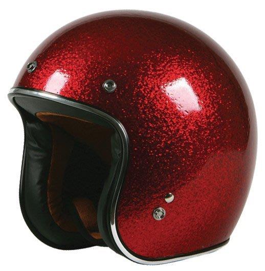 (I LOVE樂多)美牌TORC T50 RED SPARKLE 酒紅 亮粉漆 4/3安全帽
