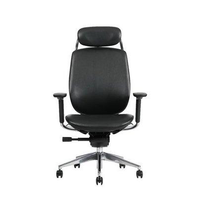 【BNS&振興優選】台灣製BACKBONE -ADDAX-CRAFT真牛皮辦公椅/辦公椅/椅子