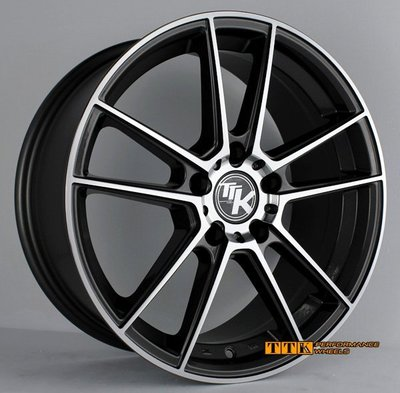 【員林 小茵 輪胎舘】 最新款五爪分岔 輕量化 鋁圈樣式 17吋 5X112 7.5J ET42 全車系適用 消光灰車面