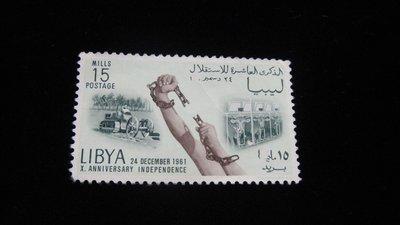 【大三元】歐洲郵票- 利比亞-新票1枚-原膠