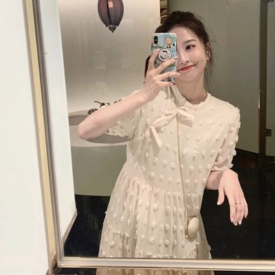 *Angel  Dance*短袖洋裝(長款&短款)@韓國 法式風情 小清新 甜美 棉質 公主裙 寬鬆 顯瘦@現貨+預購
