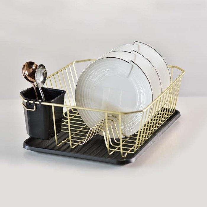 「全店免運」廚房置物架木鐵碗架瀝水架收納盤子瀝極簡生活館 【品壹家店】