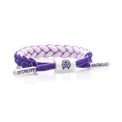 正品 RASTACLAT 美國加州品牌 鞋帶手環 Mini版 紫白雙面系列