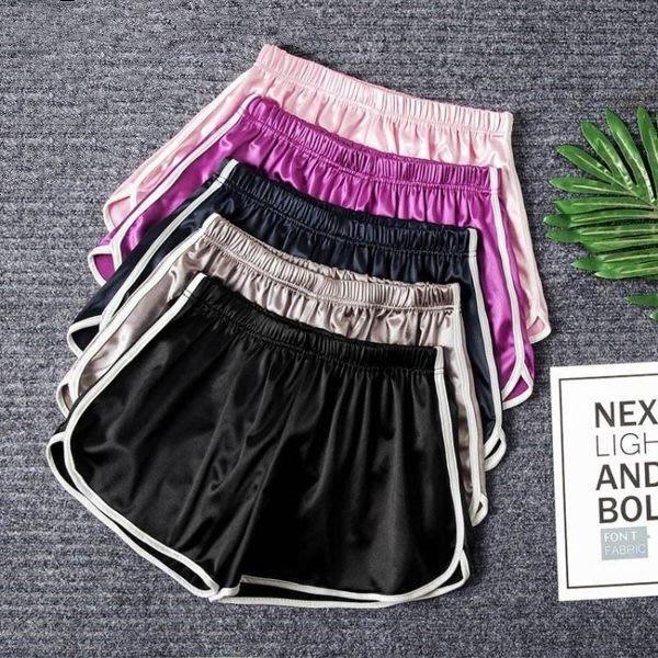 全館免運 運動短褲女跑步學生寬鬆高腰休閒寬褲子(可免費開立發票)