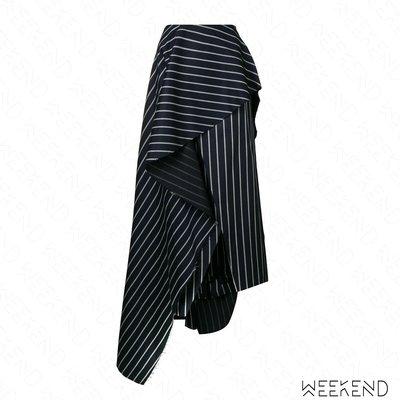 【WEEKEND】 SOLACE LONDON Diem 條紋 開岔 不規則 半身裙 長裙 18秋冬