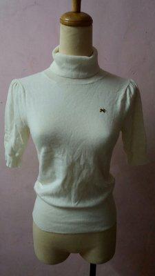LAISSE PASSE日本品牌公主袖短上衣…米白