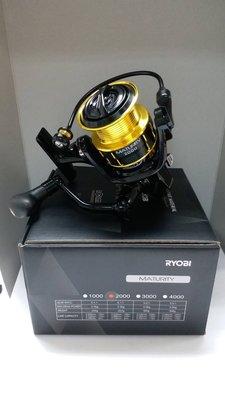 ❖天磯釣具❖ 2000型 免運費 日本RYOBI MATURITY 高培林數 紡車式 捲線器 (另有其它規格)
