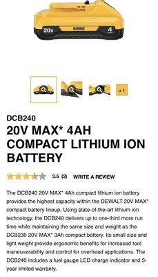 Dewalt DCB204 MAX4.0ah