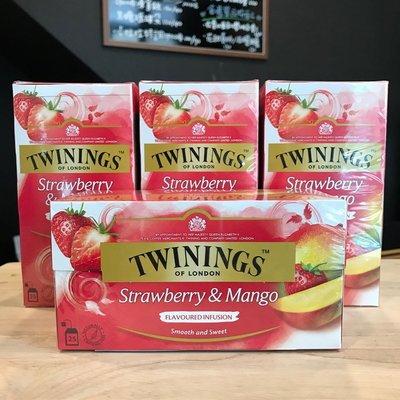 *卡拉拉咖啡精品*英國 TWININGS 唐寧茶 草莓芒果茶 ( 2g×25入 )