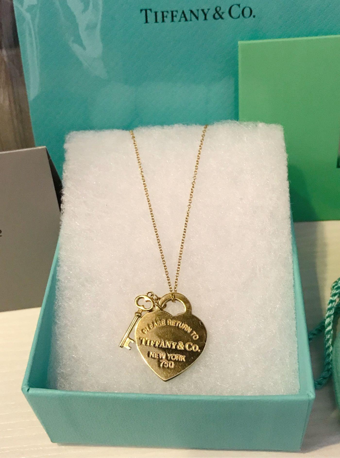 Tiffany&Co.蒂芬妮 Return To Tiffany 心形鑰匙鍊墜 心形鑰匙項鍊 18K