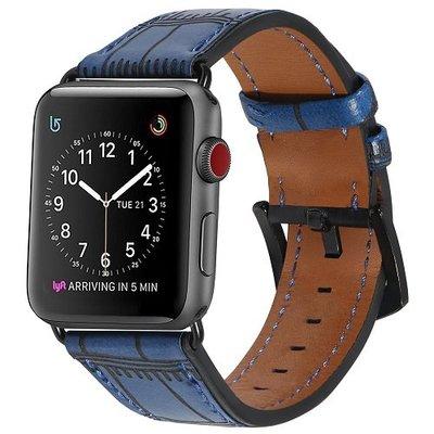 適用apple watch3表帶蘋果手表表帶iwatch23代真皮運動3842mm男女通用皮質iphone