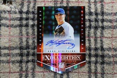 Ross Stripling 2012 Elite Extra Die-Cuts限量100張亮面新人親筆簽名 道奇大驚奇