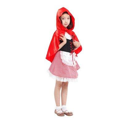 萬聖節服飾,萬聖節小紅帽裝扮,變裝派對,兒童變裝服-可愛小紅帽