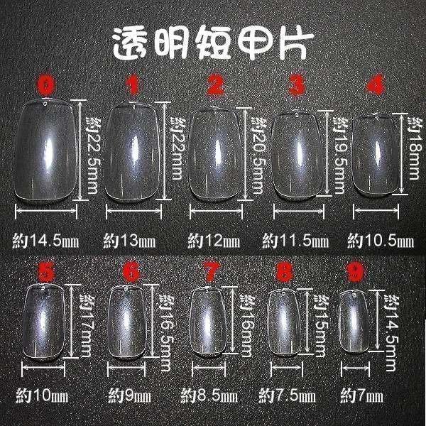 短甲的喔~《專業短指甲片-每盒100片裝,不混裝》~有透明及自然色(全貼)等二款