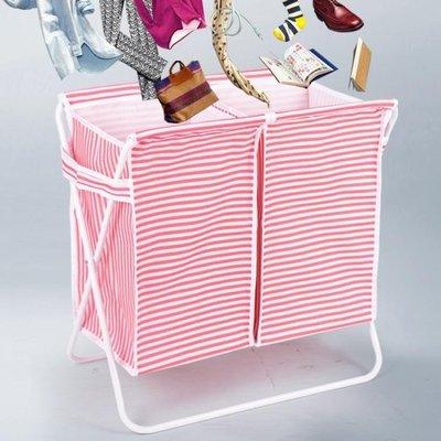 YEAHSHOP 臟衣服收納筐北歐洗衣籃衣物收納框大號臟衣簍分層帶蓋摺疊臟衣籃7131Y185