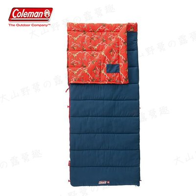 【大山野營】Coleman CM-34772 COZY II 橘睡袋/C5 信封型睡袋 全開式 纖維睡袋 露營