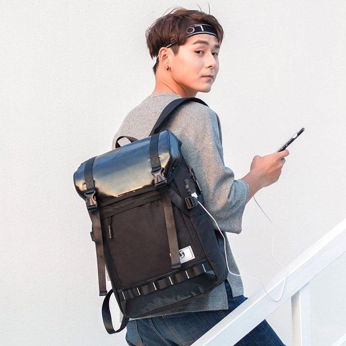 SX千貨鋪-新款時尚休閑大學學生書包多功能反光旅行青年男士背包雙肩包男潮#男士背包#書包#單肩包#書包