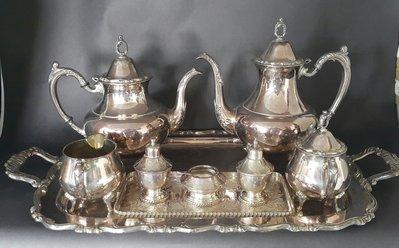 417高檔英國鍍銀壺組 Vintage Silverplate Ornate teapots whole set(皇家貴族的嫁妝)