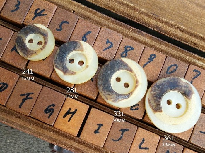 DAda緞帶‧I81099-鄉村手工風格仿木紋貝殼光2孔鈕扣(自選)2~1個【意大利進口】創作素材