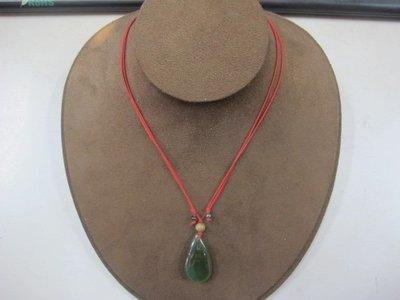 二手舖 NO.3720 天然玉石墜子 頂級藍綠玉髓 玉墜 項鍊 首飾飾品