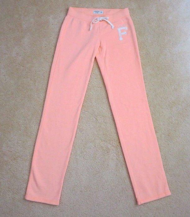 【天普小棧】A&F Abercrombie&Fitch Skinny Sweatpants刷毛合身運動長棉褲XS號