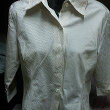 細條紋七分袖襯衫