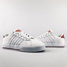 D-BOX  ADIDAS NEO GVP CVS 帆布鞋 板鞋 白色 紅尾 休閒