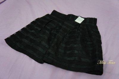 MISS TOUR~全新真品.正品RIENDA黑色透明短紗裙,喜歡SLY.MOUSSY.NICE CLAUP參考