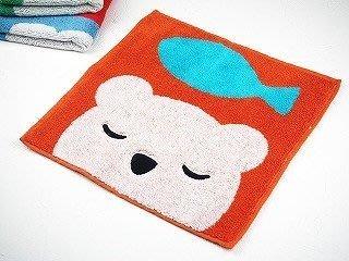 日本 保野溫子 小熊 棉質毛巾布 手帕 方巾 毛巾