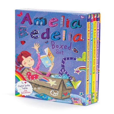 英文Amelia Bedelia Chapter Book Box Set: Books 1-4