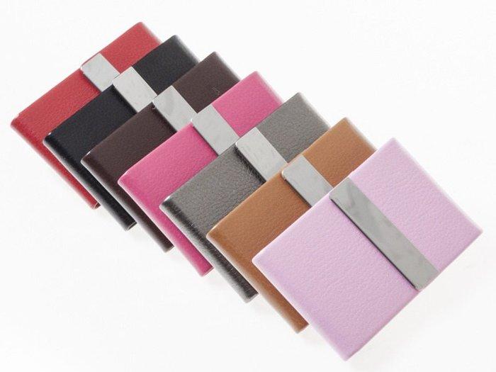 【幸福二次方】直式荔枝皮不鏽鋼名片夾 信用卡包/名片夾/名片盒/卡夾 - 多色可選