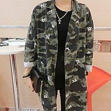 yes99buy加盟-秋冬新款女裝 2014새로운街頭小西裝中長款外套女 歐美街頭時尚迷彩西服女(單色迷彩)