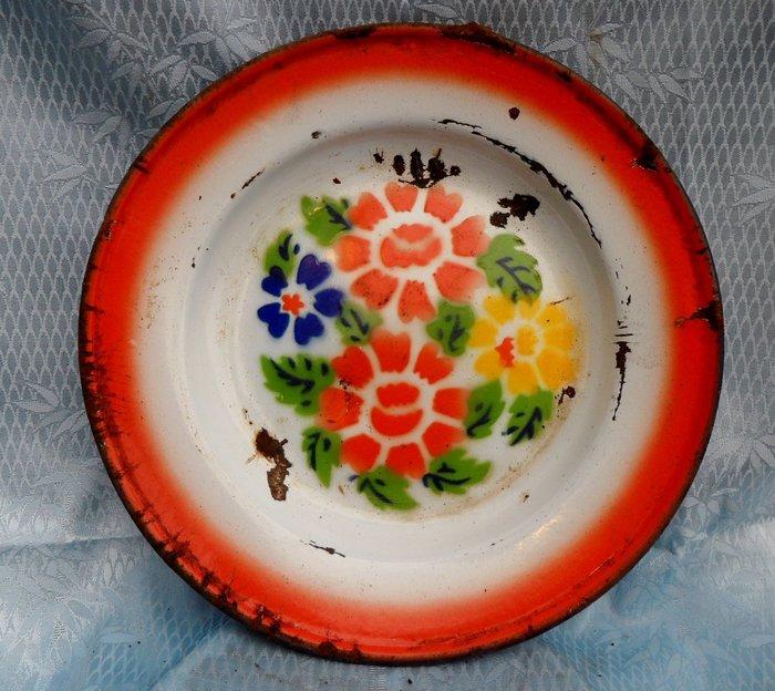 紫色小館4-----早期花鐵盤(直徑26公分)