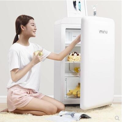 【興達生活】小吉MINIJ BC`121FA單門彩色家用冷藏冷凍辦公室小型節能復古冰箱