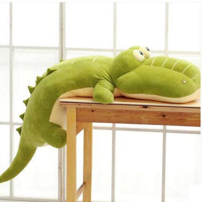 888利是鋪-鱷魚靠枕毛絨玩具公仔玩偶布娃娃男生日禮物睡覺抱的抱枕可愛大號#玩偶