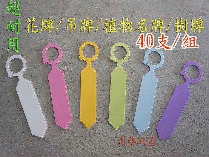 【園藝城堡】超耐用花牌 (40支/組) 樹牌 植物名牌 掛牌 吊牌