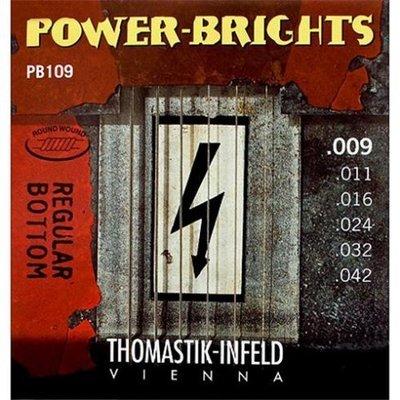 【老羊樂器店】Thomastik Infeld 奧地利手工 電吉他弦 Power Brights PB109