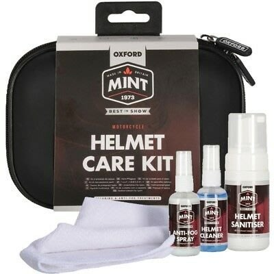 英國製 MINT 安全帽清潔保養包 (內襯清潔劑+帽殼清潔劑+防霧劑+擦拭布)