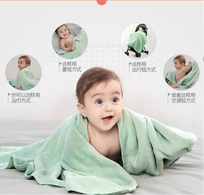 ZIHOPE 嬰兒浴巾超柔寶寶洗澡毛巾兒童新生比純棉紗布吸水速干初生ZI812
