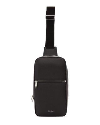 [全新真品代購-SALE!] Paul Smith 黑色皮革 單肩 背包 / 斜背包 (PS)