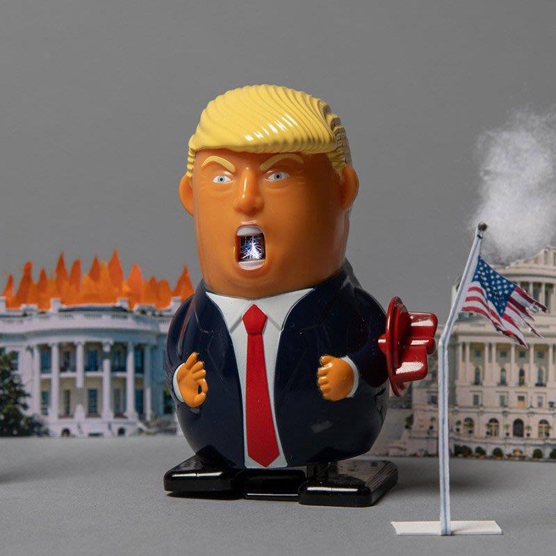 好運來特朗普發條玩具 發怒的川普 脾氣暴躁總統發條減壓玩具KK