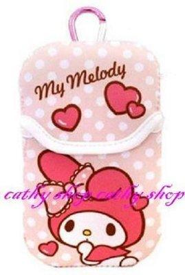*凱西小舖*日本進口三麗歐正版MELODY美樂蒂附掛勾收納/I POD/手機袋