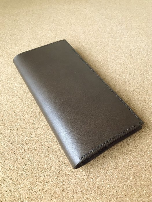 【IAN X EL】真皮簡約二折式長夾B 提供刻印字服務 純手工皮件
