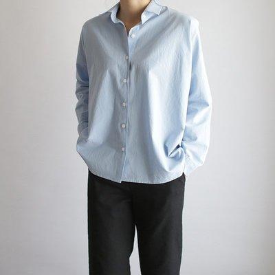 春裝 新款girlmonster 重磅推薦 ! 正韓 飛鼠袖襯衫 (白色 米色 綠色 藍色)   【A0303】