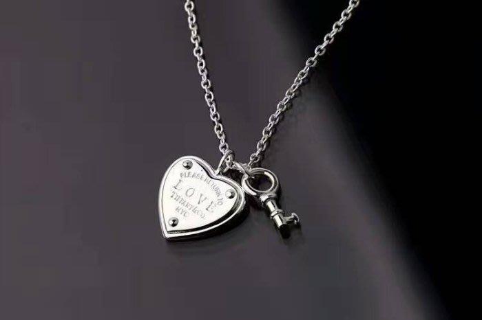 Melia 米莉亞代購 Tiffany&Co. 925純銀 Tiffany 蒂芙尼 項鍊 手環飾品 迷你心型鑰匙項鍊