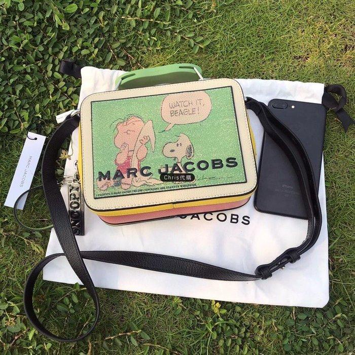 Chris 精品代購 MARC JACOBS MJ 新款復古史努比印刷手提BOX包 斜背包  美國代購