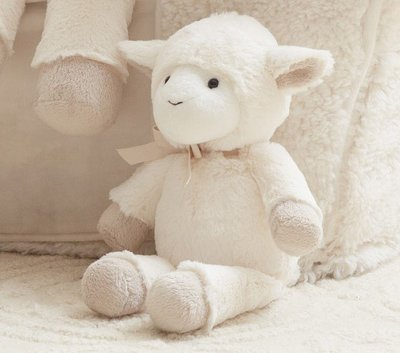 預購 美國嬰幼兒精品 Pottery Barn Baby 全品項代購 可愛小羊咩咩 Lamb Plush 小款 生日禮