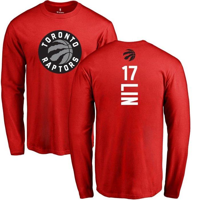 《FOS》NBA 男生 林書豪 多倫多暴龍隊 長T 長袖 圓領 t恤 純棉 Jeremy Lin Raptors 送禮