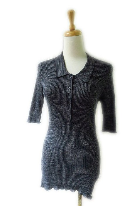 *Beauty*PRADA灰色長版POLO棉針織衫 42  號   15000 元WE18