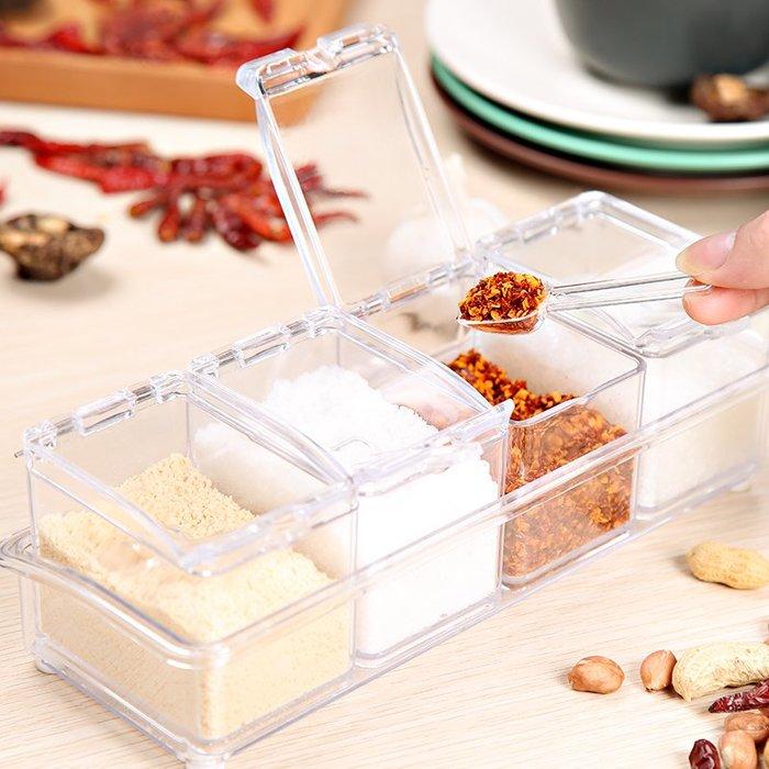 【berry_lin107營業中】調味盒套裝塑料有蓋調味罐瓶廚房用品調料瓶鹽罐佐料組合裝收納的
